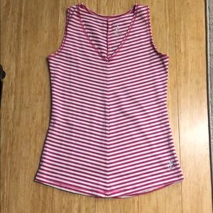 Pink and white stripe workout tank size: Small